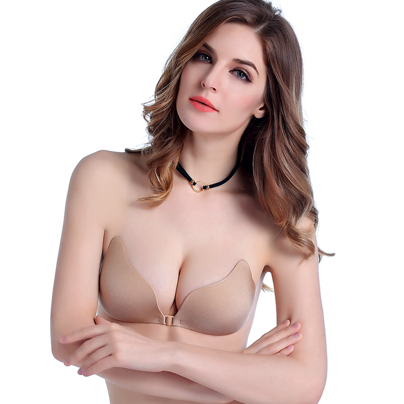 Uniquebobo-Wholesale Lady Push Up Magic Invisible Strapless Silicone Bra