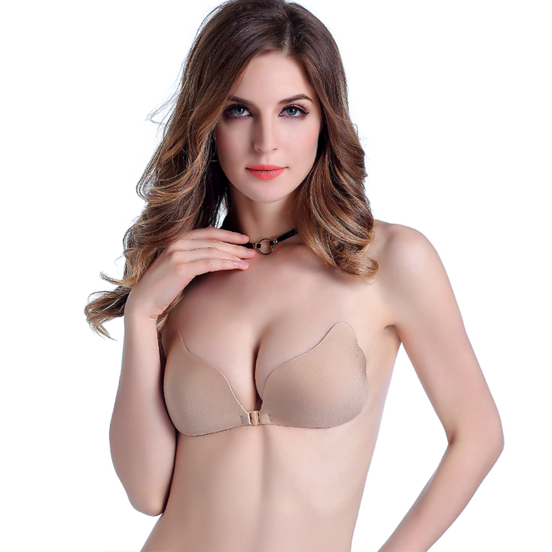 Uniquebobo-Wholesale Lady Push Up Magic Invisible Strapless Silicone Bra-1