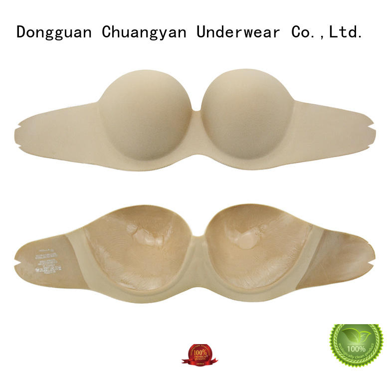 Wholesale push up silicone strapless backless bra skin adhesive cloth invisible bras