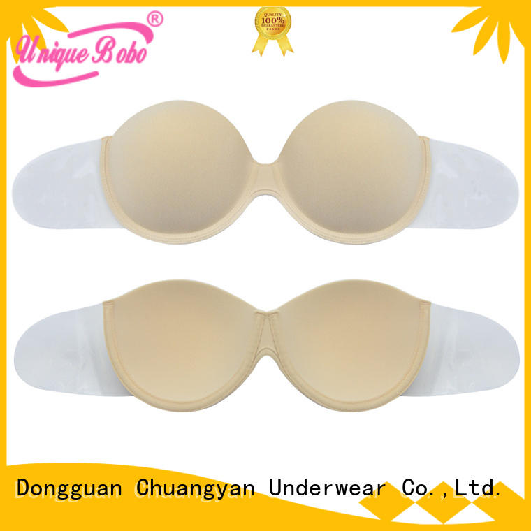 Uniquebobo portable strapless and backless push up bra seamless for girl