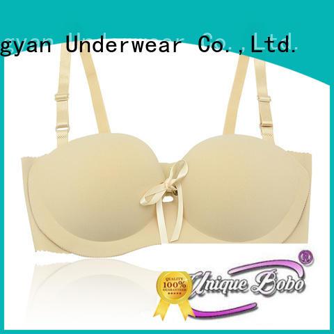 Uniquebobo push up plus size strapless bra waterproof for invisible bra