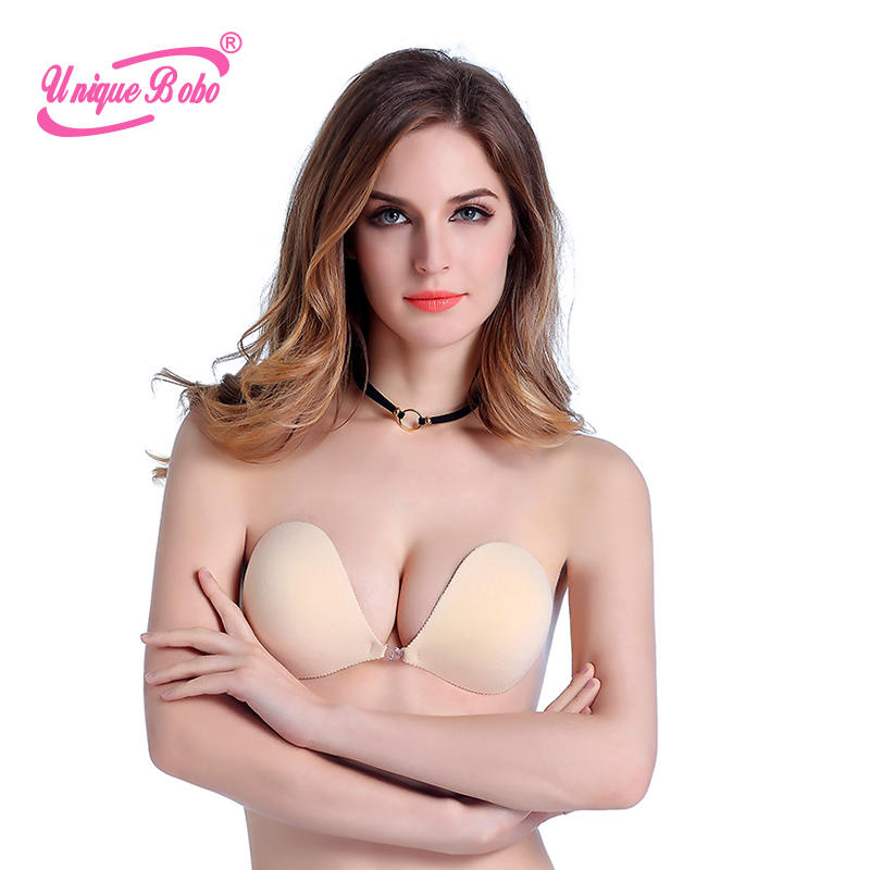 High Quality Strapless Backless Lift Breast Invisible Bra CY-1013