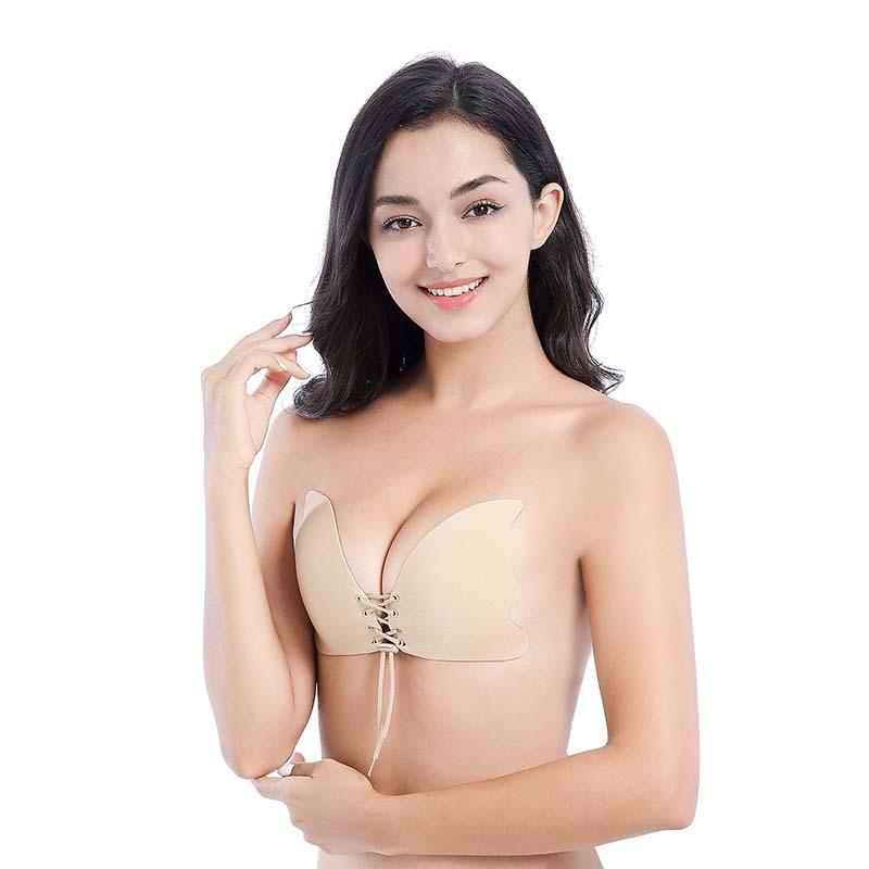 Backless Seamless Bandage Push Up Adhesive Bra CY-025