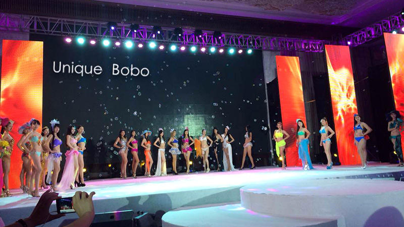 Uniquebobo is designated as the 54th the miss world only sponsored brand underwear