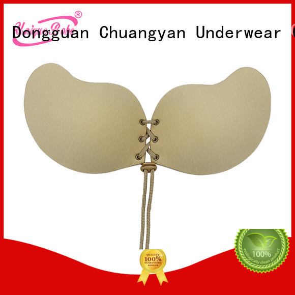Uniquebobo backless comfortable strapless bra waterproof for girl