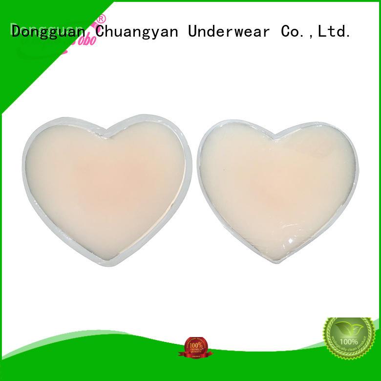 Uniquebobo high quality women nipple covers fabric for modern bra